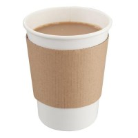 SMALL Corrugated Cup Wrap for 8-10oz Hot Drink Paper Cup