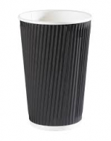 Black Ripple Paper Cup