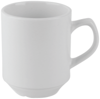Economy White Porcelain Stacking Mug