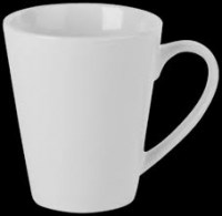 Economy White Porcelain Conical Mug
