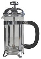 Chrome Cafetiere with Pyrex Liner