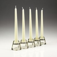 Ivory Tapered Candle in a group