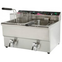 8 Litre Double Fryer with Taps