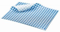 BLUE Gingham Print Greaseproof Paper