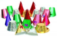 Rialto Holographic Christmas Party Hats for Adults