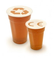 Rpet Premium Platic Beer Tumblers. Pint and half pint to the brim.