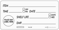 Removable Shelf Life Label