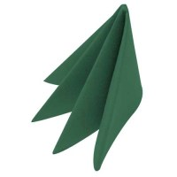 Swansoft Mountain Pine - Dark Green Linen Style Napkin