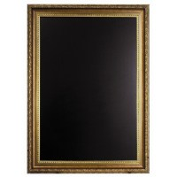 Chalk Board with Gold Coloured Frame 85 x 65cm