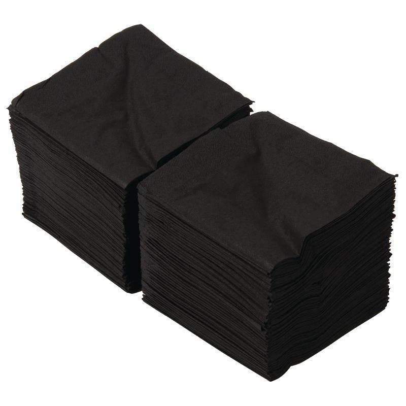 Black Cocktail Napkins : Black paper cocktail napkins cm wholesale disposable